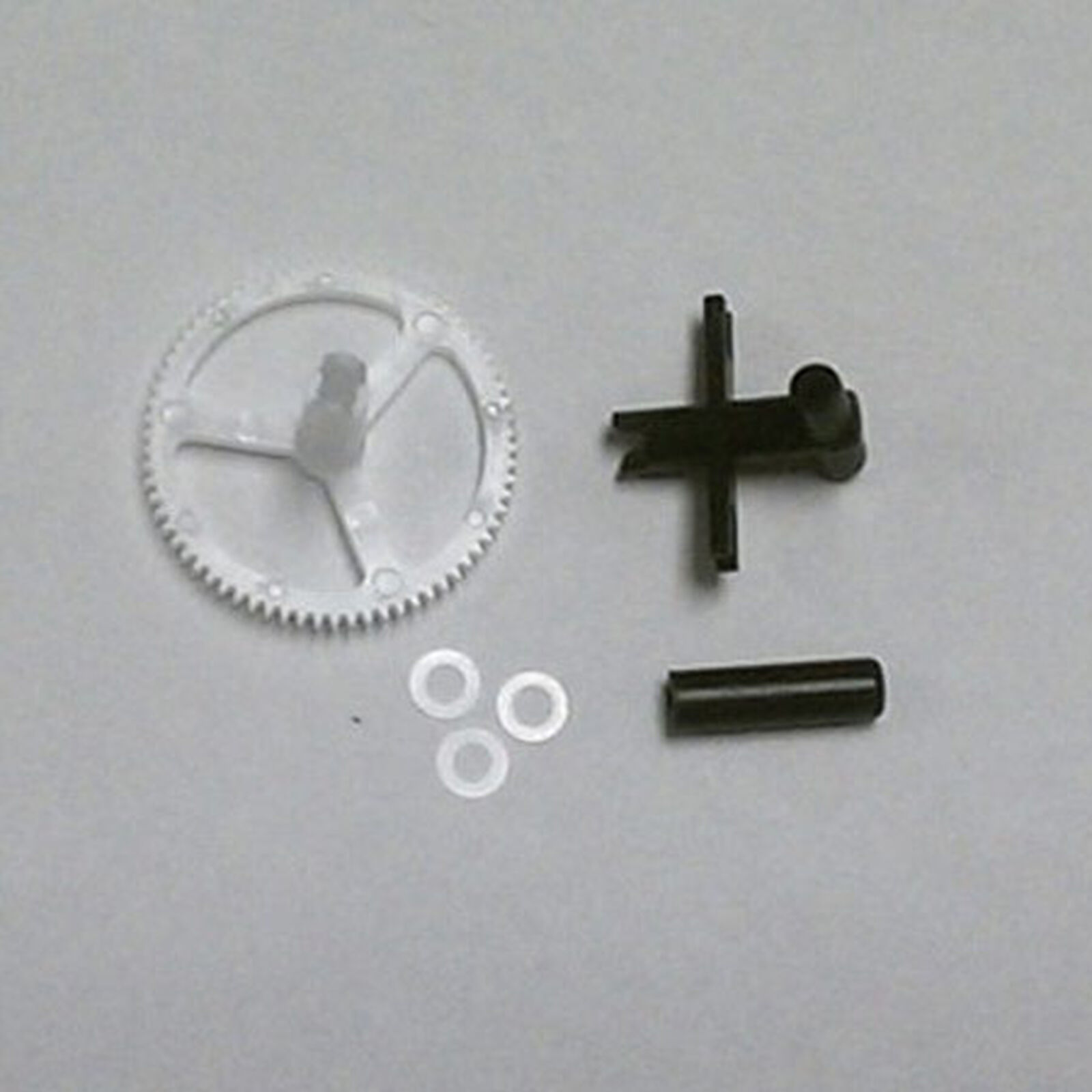 Lower Rotor Head, Outer Shaft/Gear, Washers (3)