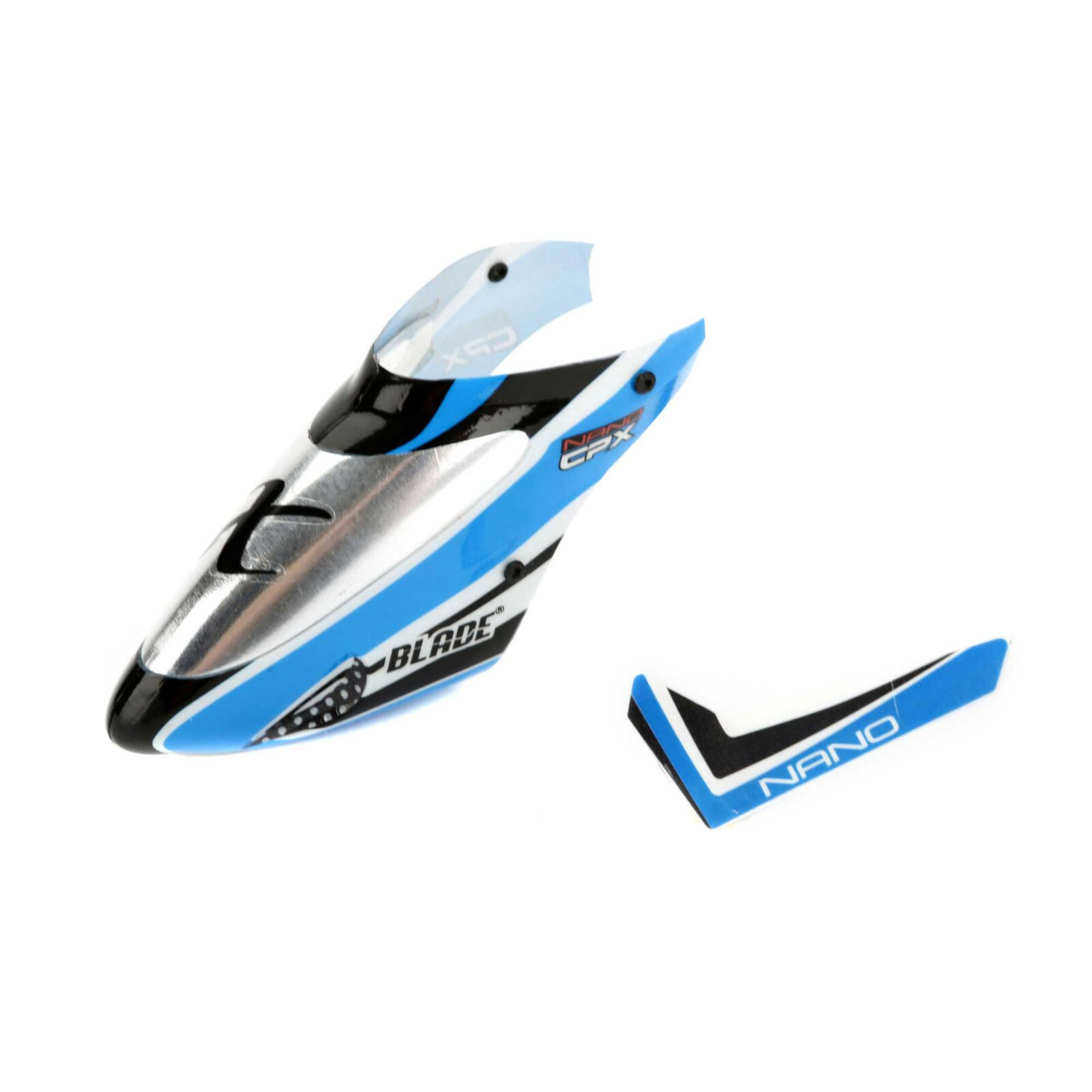 Complete Blue Canopy with Vertical Fin: Nano CP X