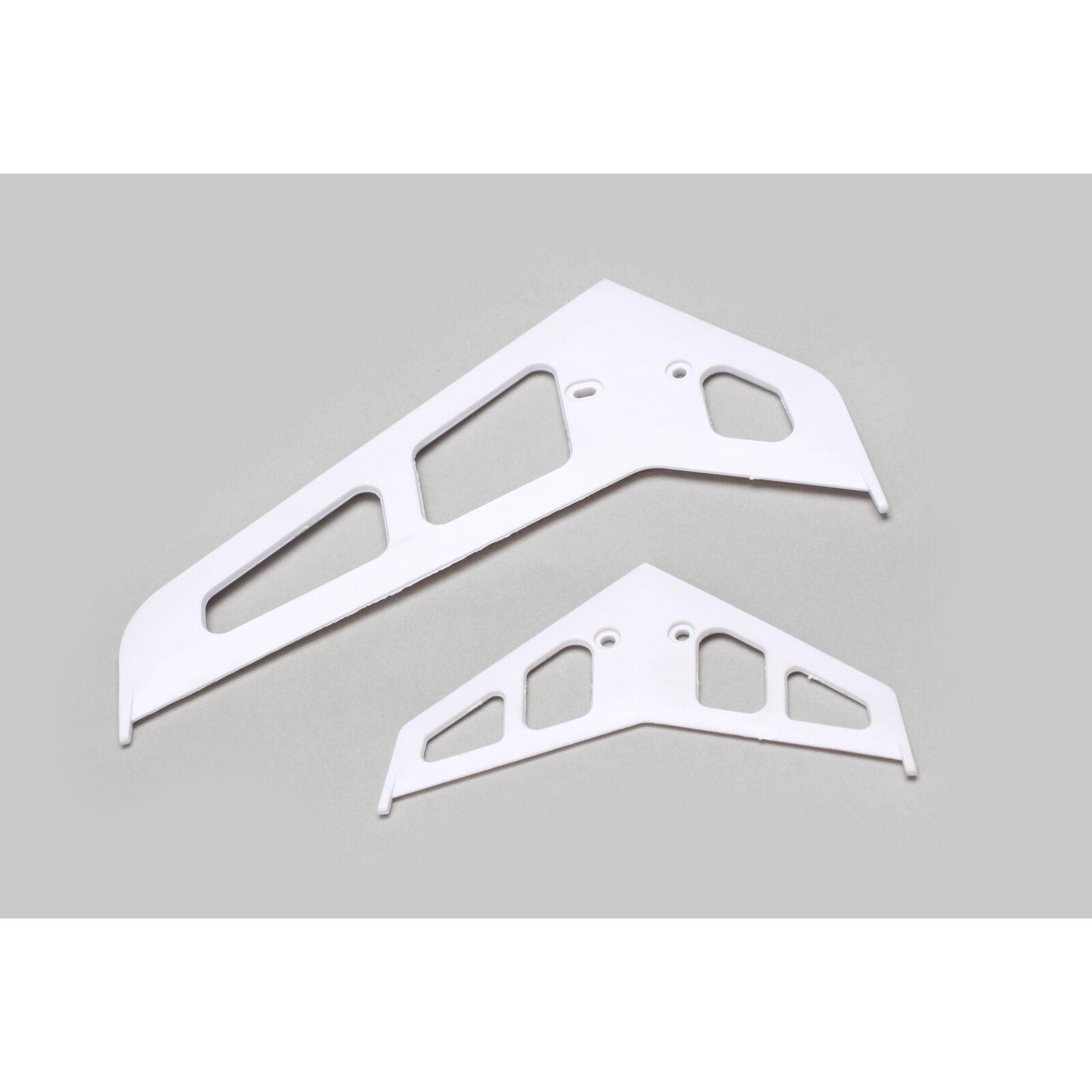 Stabilizer Fin Set White: B500 3D/X