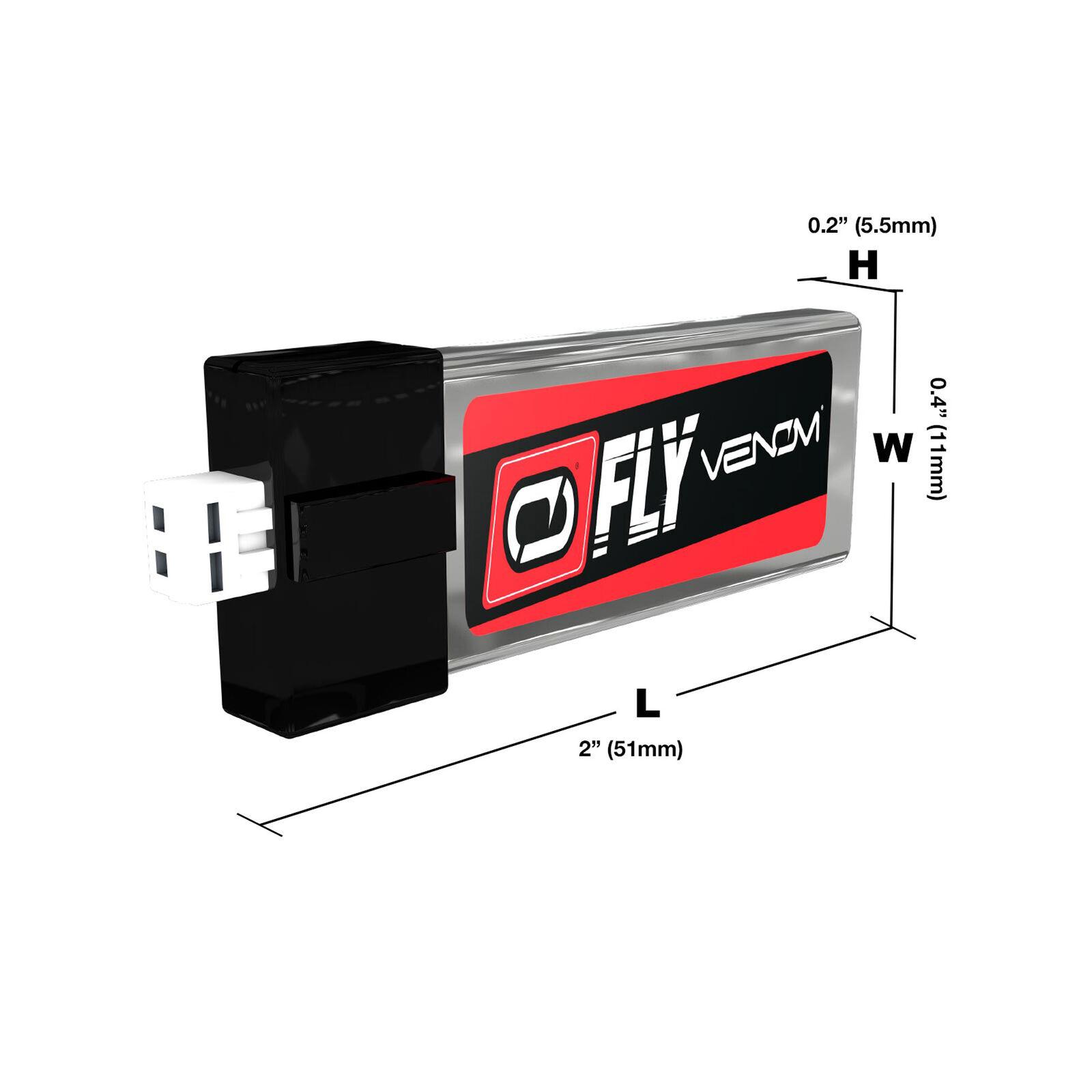 3.7V 180mAh 1S 45C FLY LiPo Battery: PH 1.5 (Ultra Micro)