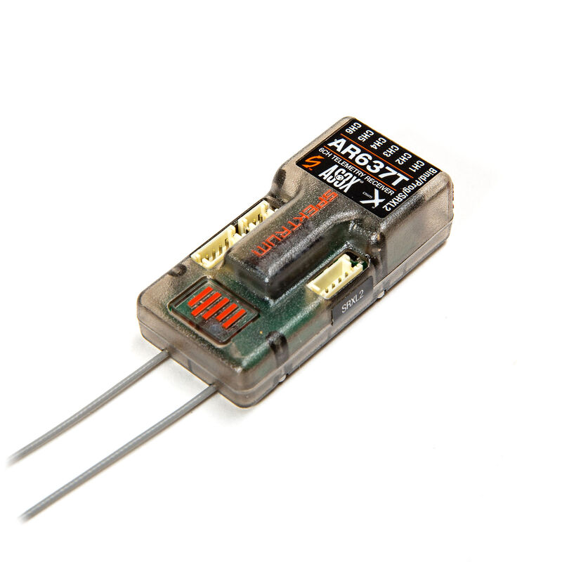 AR637T DSMX 6-Channel AS3X & SAFE Telemetry Receiver